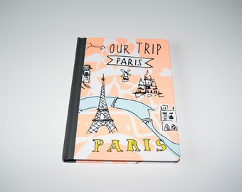 Hard cover notebook Paris, travelers notebook