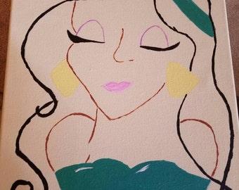 Jasmine Paint Sketch