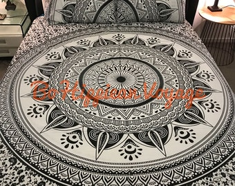 housse de couette mandala etsy. Black Bedroom Furniture Sets. Home Design Ideas