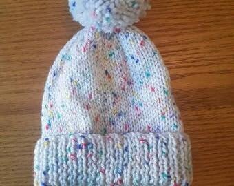 First size pom pom hat