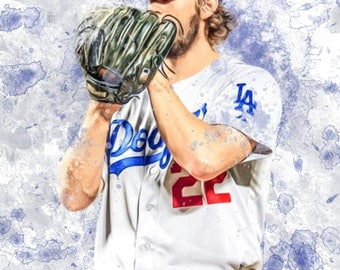 "Clayton Kershaw Los Angeles Dodgers 13"" W x 19"" H Poster"