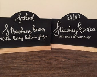 Chalkboard Table Sign with Custom Modern Calligraphy- Reusable