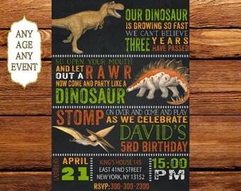 Dinosaur Birthday Invitation, Dinosaur Birthday Invitation, Dinosaur Invitations, Dinosaur Party 141