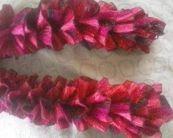 Pink Ribbon Ruffle Scarf