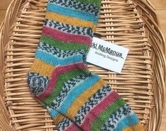Hand Knit Socks Womens Sz. 7-9