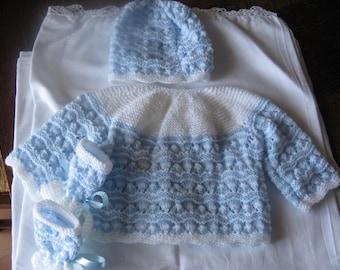 Life jacket + Hat + booties is handmade for newborn or reborn baby