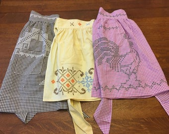Vintage Cross Stitched Aprons-sold separately