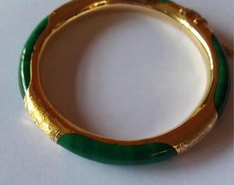 Malechite jade bangle