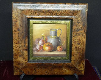 Vintage Oil Painting | Still Life Painting | Mini Painting Picture