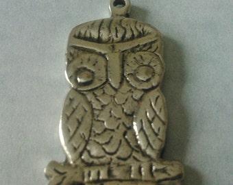 Sterling Silver Owl Pendant Neckace
