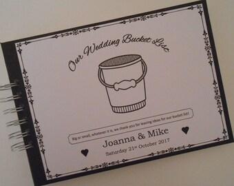 Personalised Vintage WEDDING Guest Book Photo Album Scrapbook BUCKET LIST Book Alternative Wedding Guest Book