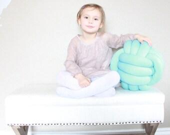 "LARGE 12""/30.5cm Knot Pillow  - Knot Cushion, Throw Pillow, Decorative Cushion, Kids Pillow, Nursery Pillow, Geometric Pillow"