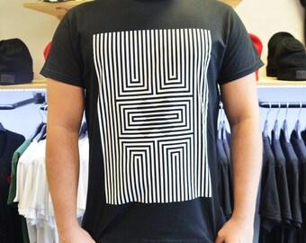 Illusion X Unisex Tee, t-shirts, shirts, t-shirts, graphic tees, geometric illusion t-shirt, streetwear, fashion, outfit
