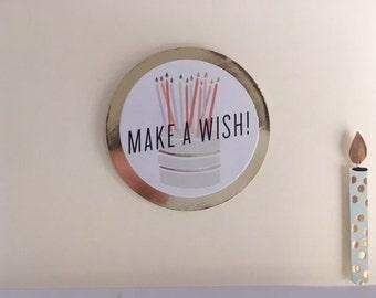 Birthday Make a Wish! (blank)