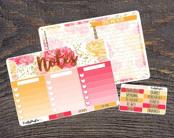 Planner Notes Sticker Kit // Vertical Erin Condren Life Planner- Perfect for any planner!
