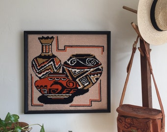 Embroidered Stitch Art Southwestern Frame