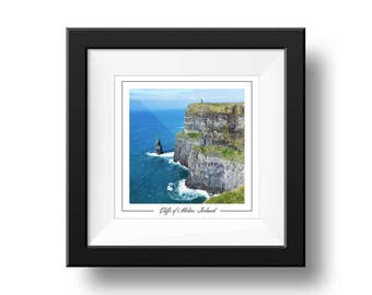 Cliffs of Moher Print, Square Wall Art Print