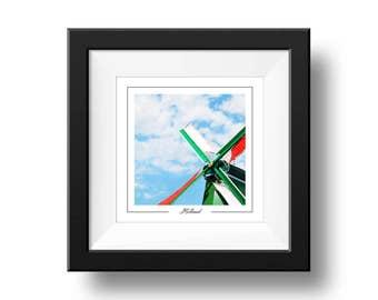 Holland Print, Windmill Photograph, Square Wall Art