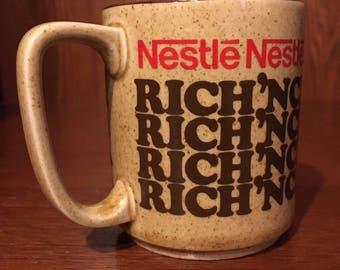 Vintage Nestle Rich N' Creamy Hot Cocoa mug
