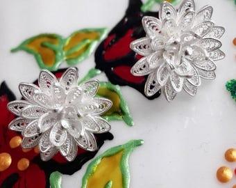 Filigree Earrings, Silver 990 earrings