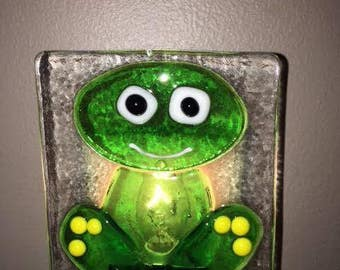 Fused Glass Frog Night Light