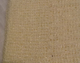 Pale yellow baby blanket