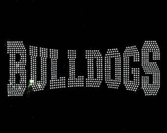 Rhinestone Bulldogs  Lightweight T-Shirt or DIY Iron On Transfer           AE63