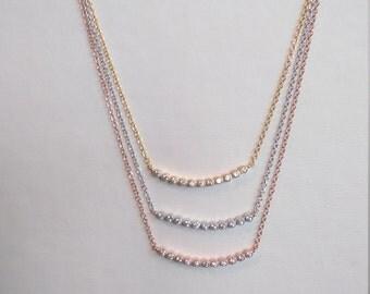 Silver fancy necklace