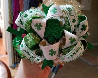 Over The Top St Patty's Day hair bow