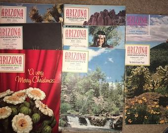 Lot of 8 'Arizona Highways' magazine  1962-1964