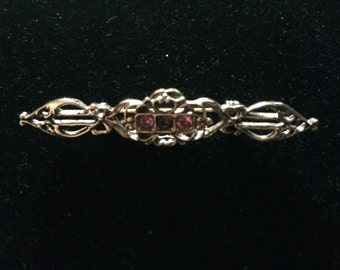 1950s Victorian Style Bar Brooch