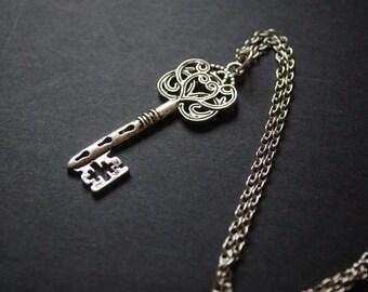 Alice in wonderland key necklace