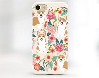 Corgi iPhone 7 case corgi iPhone 6 plus case welsh corgi phone case corgi iphone 5s floral corgi iphone 6s plus floral corgi butt phone case