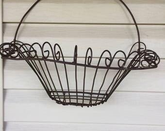 Flower or plant basket, antique,vintage