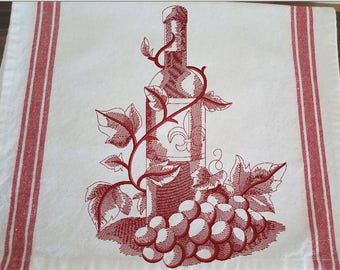 Kitchen Tea Towel - Wine