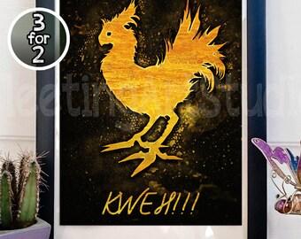 FINAL FANTASY CHOCOBO Art Print Poster Wall Decor