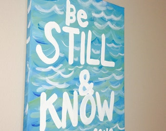 FREE SHIPPING! 11x14 Handpainted Bible Verse Canvas