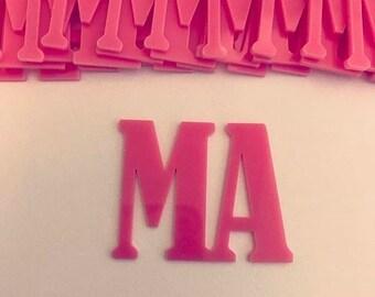 Laser cut acrylic M.A