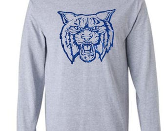 University of Kentucky Wildcat Unisex Adult Long Sleeve Tshirt with Glitter Vinyl