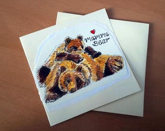 Bears Mother's Day Card | Handmade Card | Cute Card