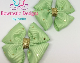 Hair Clip, Clippie, Clipper Bow, Toddler Bow, Pigtail Bow, Girls Pig Tail Bow, Spring Hair Bow, Pigtail