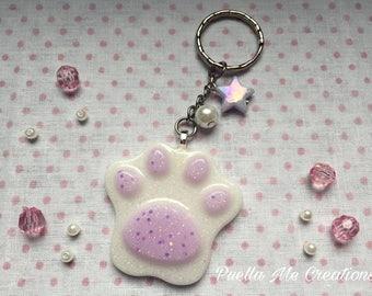 Pastel lilac leg keychain
