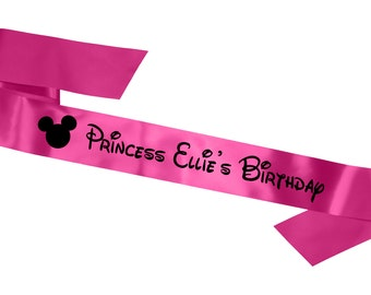 Personalised Disney Birthday Sash for Adults & Children