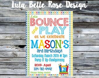 Bounce House Birthday Invitation, Bounce House invitation, Ball Pit Birthday Invitation, Ball Pit Invitation, Jump House Invitation, Jump