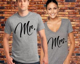 Mr Mrs shirts, Mr Mrs Matching shirts, Mr and Mrs shirts, Mr Mrs Honeymoon shirts, Hubby Wifey Shirts, Couple tshirts, Gift