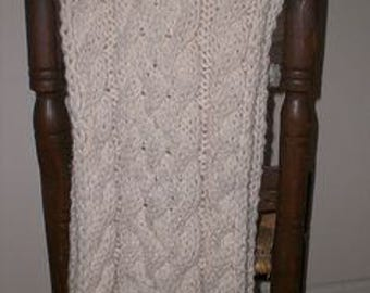 PDF Knitting Pattern Winter's Snow Cable Scarf Knit Pattern