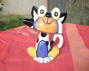 "Lorna Bailey Rare Cat Jug ""Boggles"" Hand Painted Ceramic"