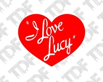 "I Love Lucy Red Vinyl Car Decal 3"" - Sticker - Car, Laptop, Boat, Window, Wall Decor High Quality Oracal Vinyl Made In Germany 6 Year Life"
