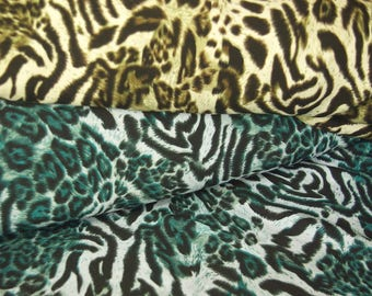 Mixed Tiger And Leopard Print Fabric