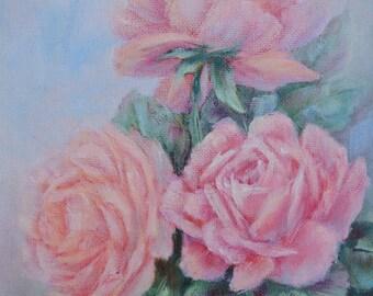 Pink Roses, by Texas artist, Margaret Springer
